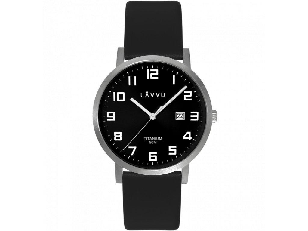 10176 extremne lehke titanove hodinky lavvu titanium lyngdal black