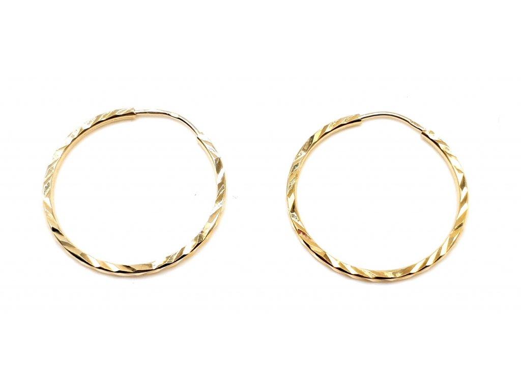 98376 1 jednoduche kruhove geometricke zlate nausnice 2 0cm
