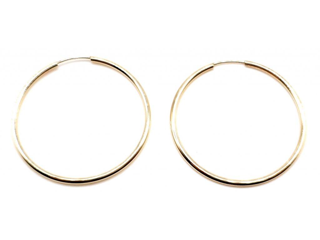 98415 klasicke kruhove nausnice ze zluteho zlata 2 7cm