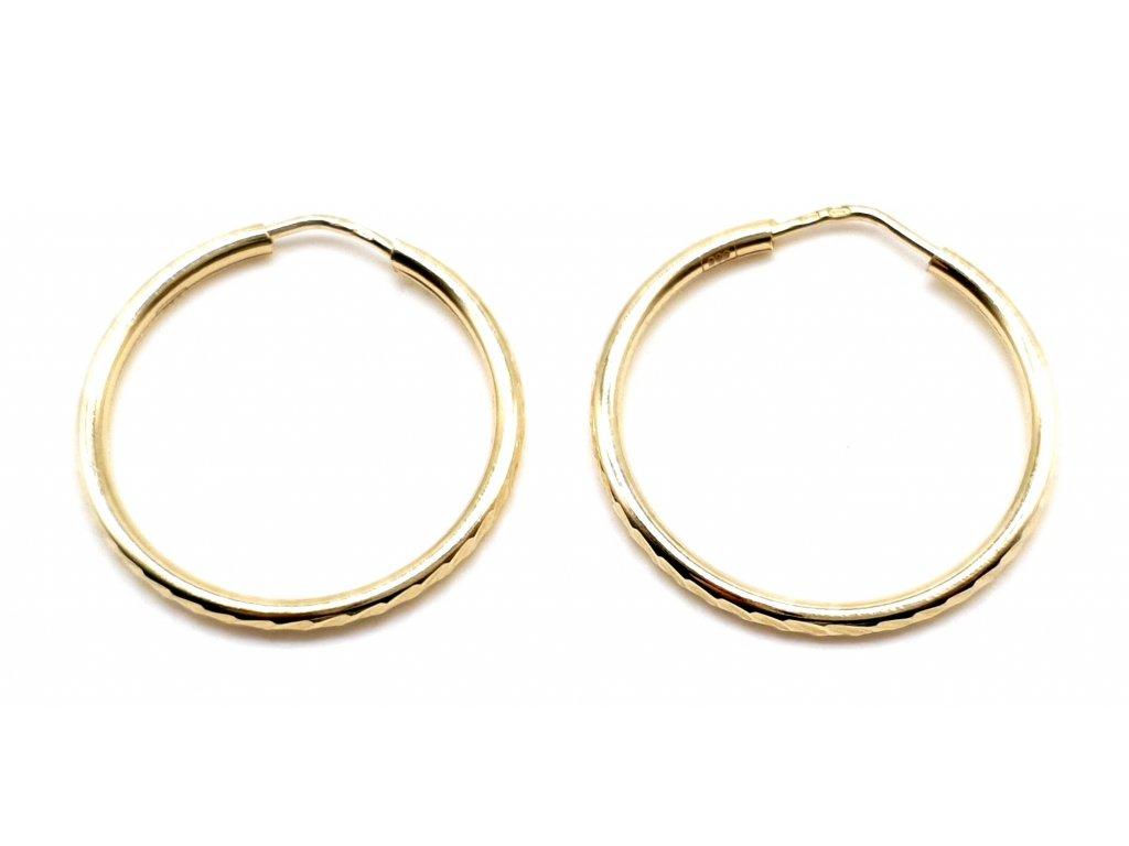 98403 kruhove nausnice ze zluteho zlata 2 2cm