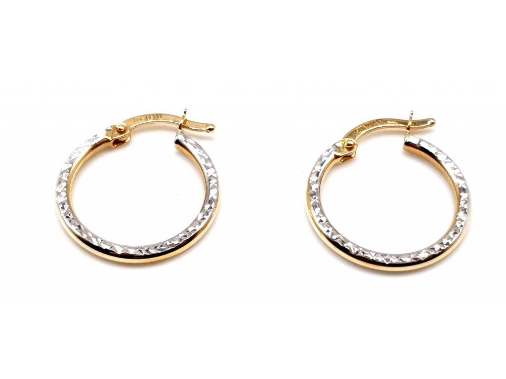 98361 kruhove zlate nausnice v provedeni bi color 1 5cm