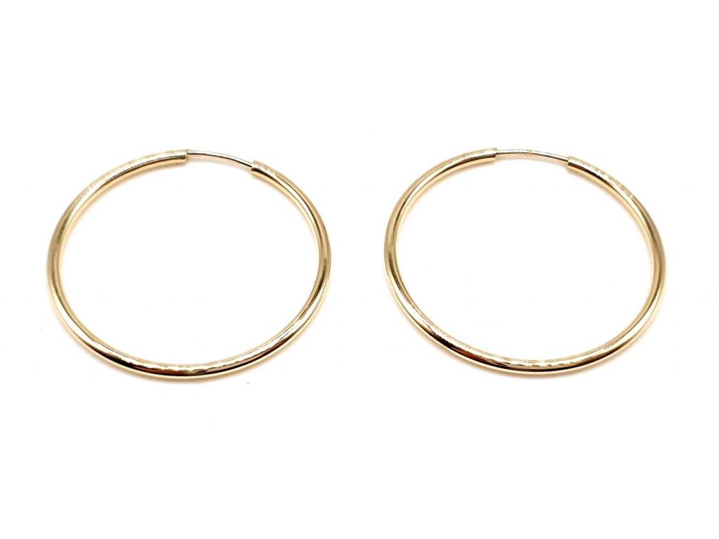 98388 leskle zlate kruhove nausnice 2 2cm
