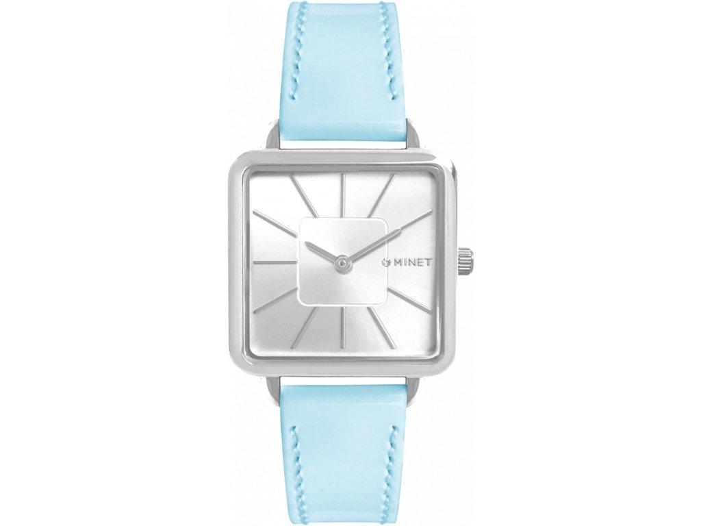 6714 modre damske hodinky minet oxford pastel blue