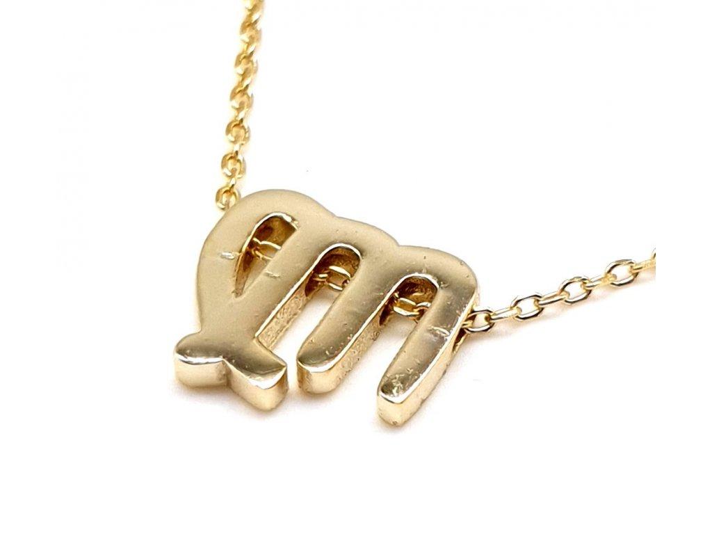 83130 1 pozlaceny nahrdelnik s priveskem znameni panna