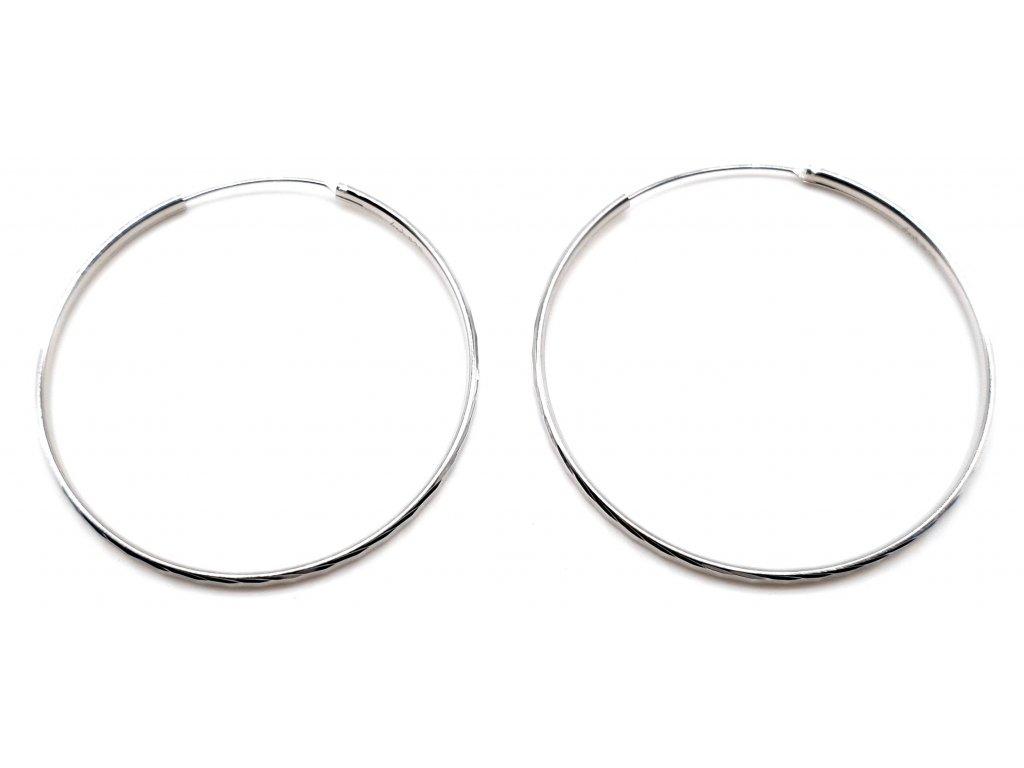 98439 stribrne kruhove nausnice s geometrickym povrchem 4 5cm