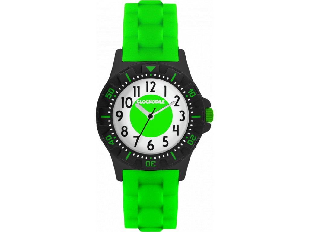 10134 svitici neonove zelene sportovni detske chlapecke hodinky clockodile sport 3 0
