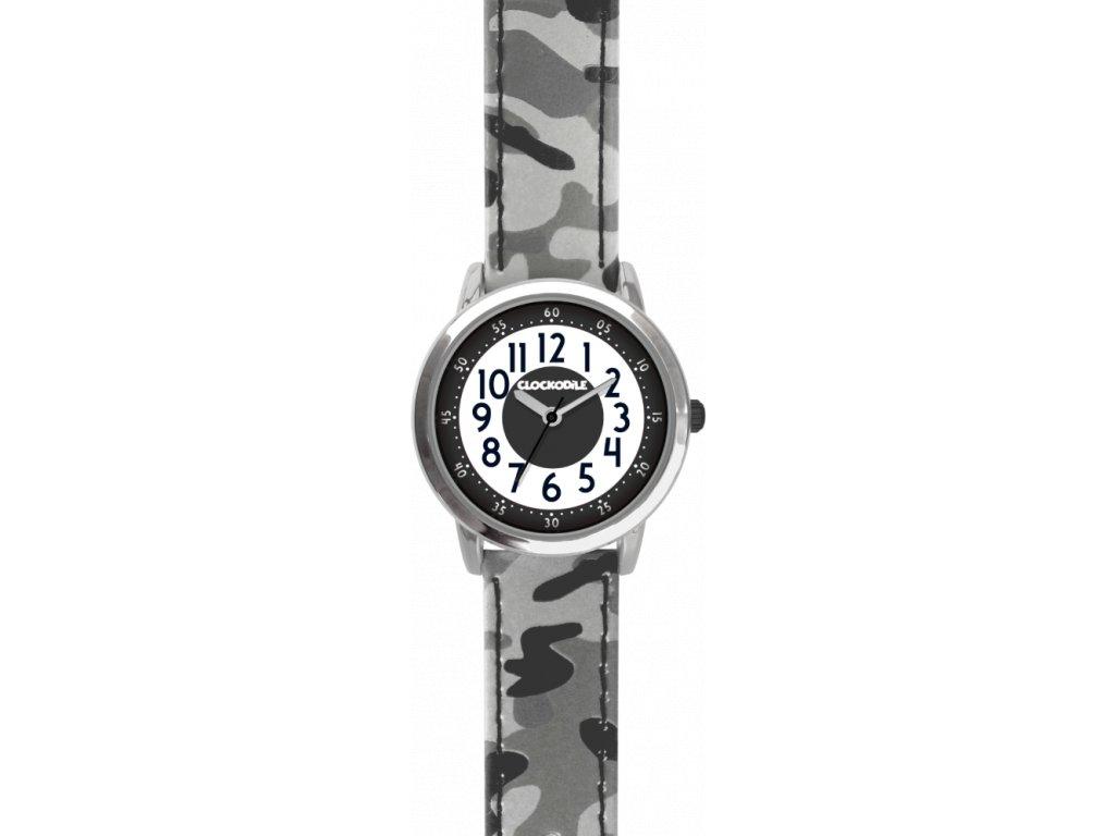 114 svitici sede chlapecke detske hodinky clockodile army s maskacovym vzorem