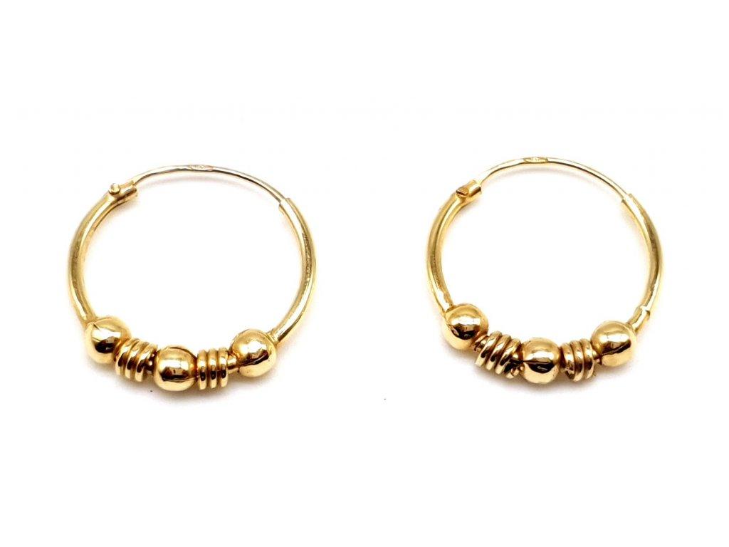 98385 zlate kruhove nausnice 1 5cm
