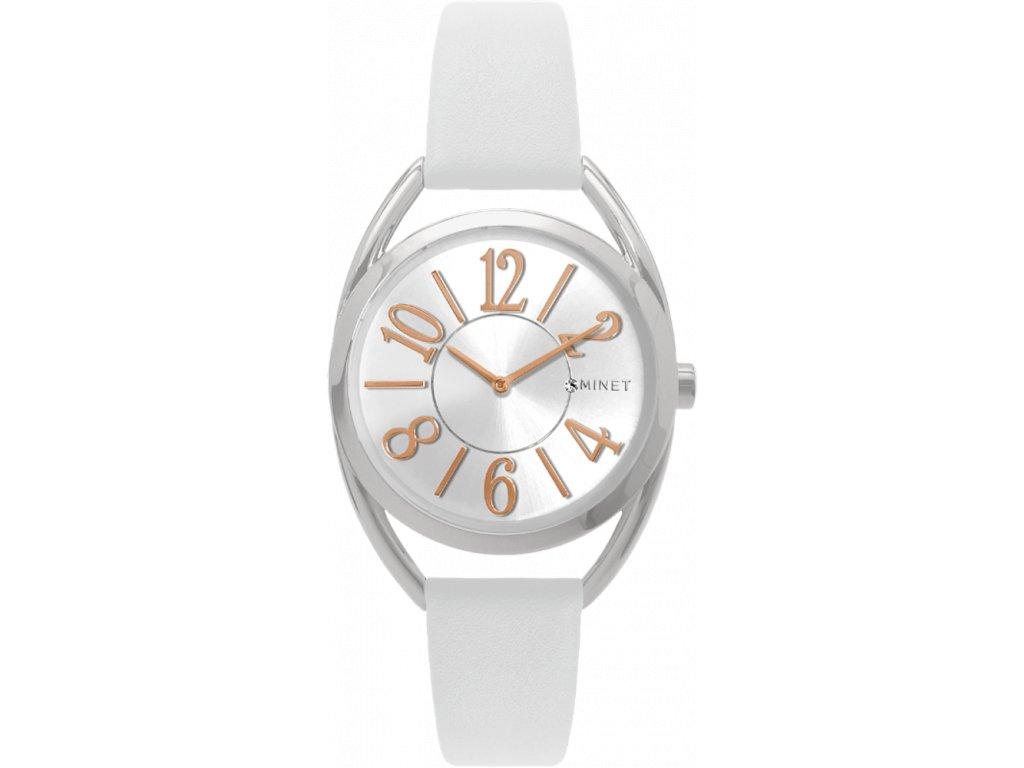58206 5 bile damske hodinky minet icon sugar white