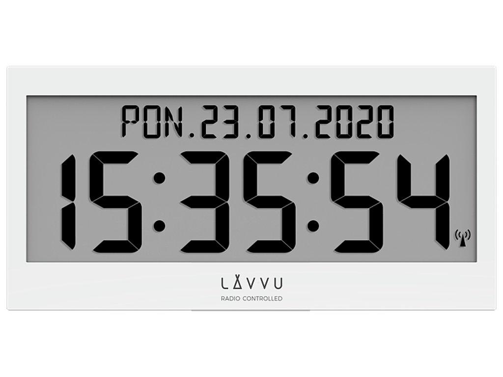 58218 3 bile digitalni hodiny s cestinou lavvu modig rizene radiovym signalem