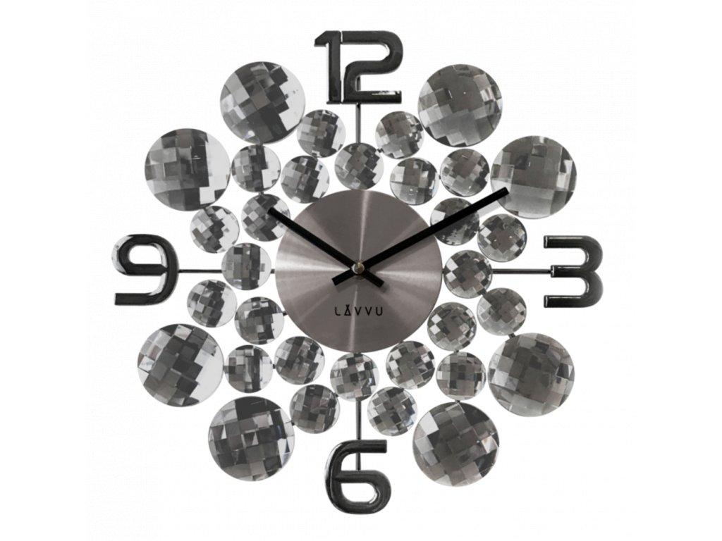 58275 2 cerne antracitove hodiny lavvu crystal jewel