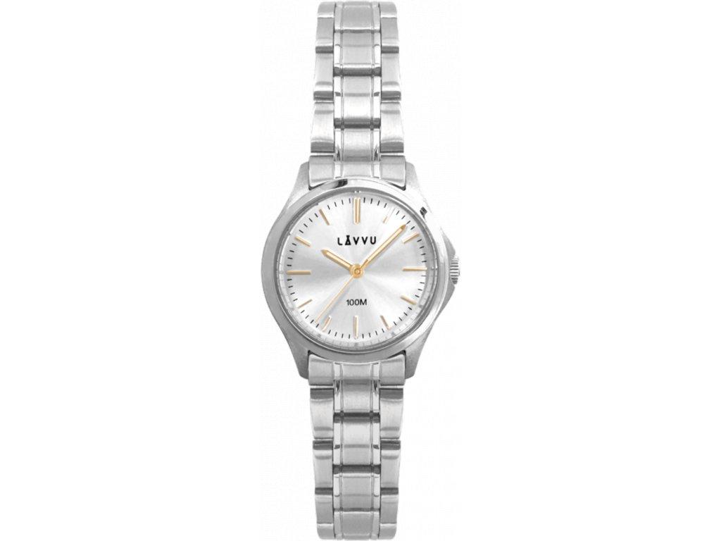 58437 2 damske hodinky lavvu arendal gold s vodotesnosti 100m