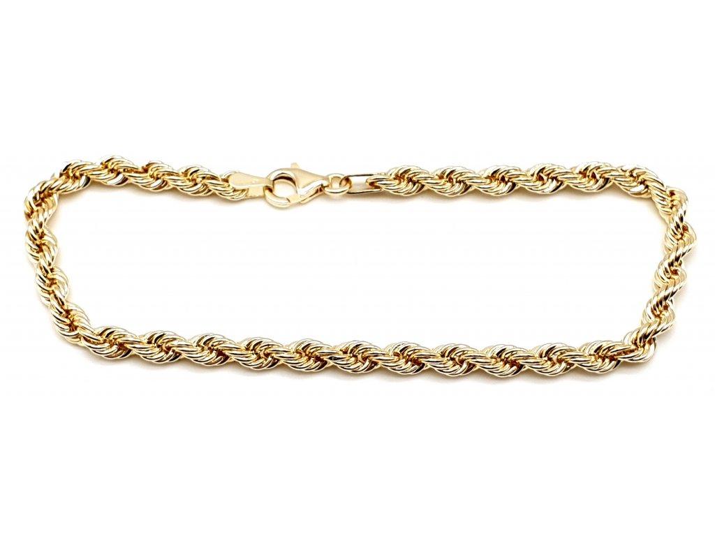 56568 damsky lankovy zlaty naramek