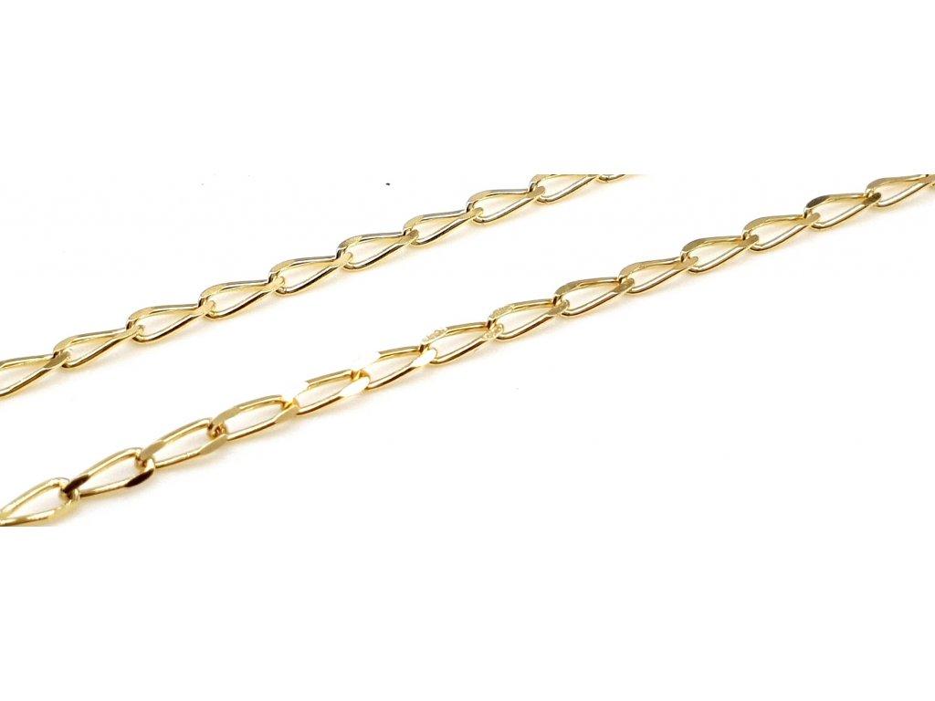 Dámský zlatý řetízek s oky (Délka řetízku 45cm)
