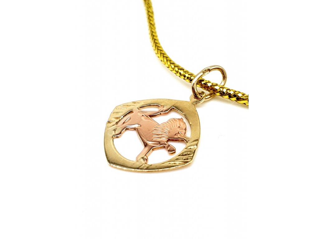 57219 decentni zlaty privesek znameni lev