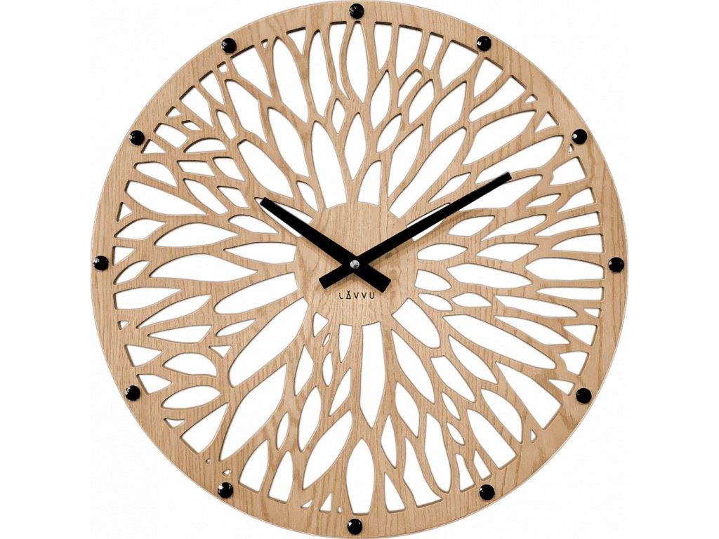 58626 2 impozantni svetle drevene hodiny lavvu wood