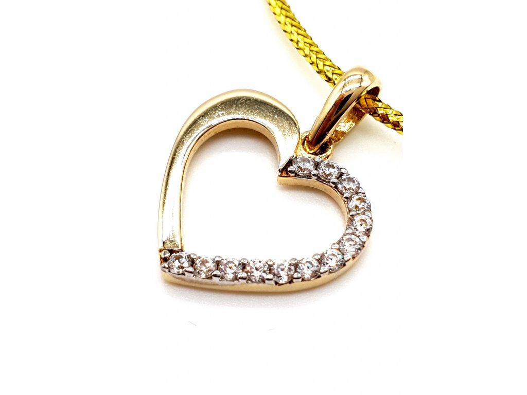 57483 leskle zlate srdce zdobene zirkony