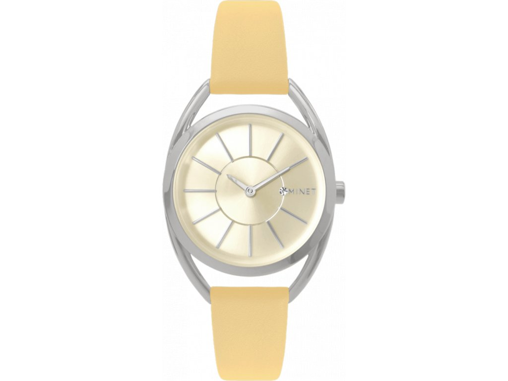 58671 4 merunkove damske hodinky minet icon apricot glow