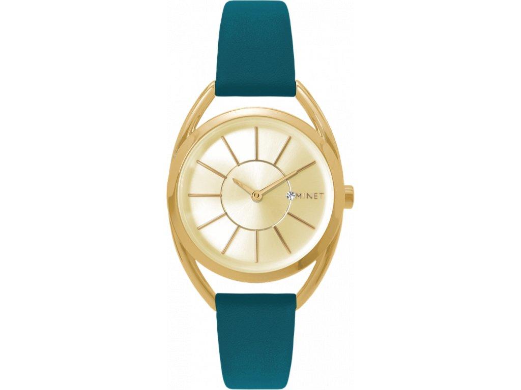 58683 6 modre damske hodinky minet icon monaco blue