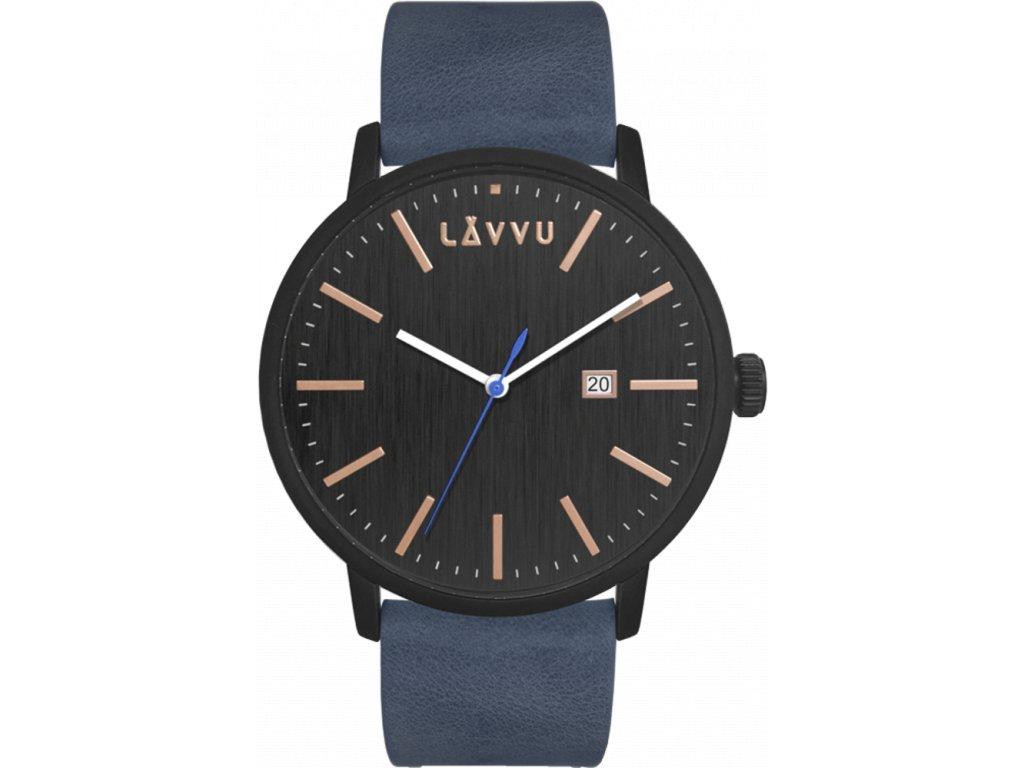58728 2 modro cerne panske hodinky lavvu copenhagen black blue