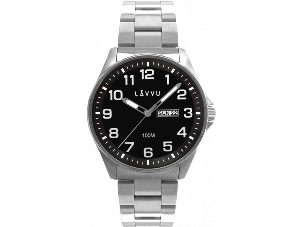 58770 2 ocelove panske hodinky lavvu bergen black se sviticimi cisly