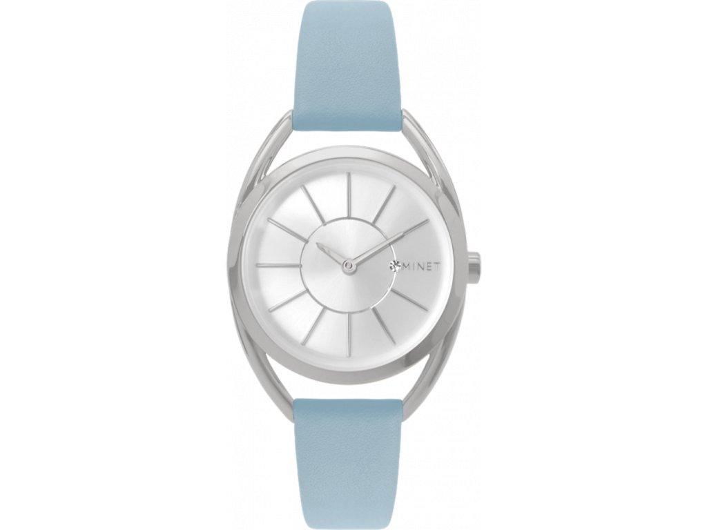 58875 5 pudrove modre damske hodinky minet icon powder blue