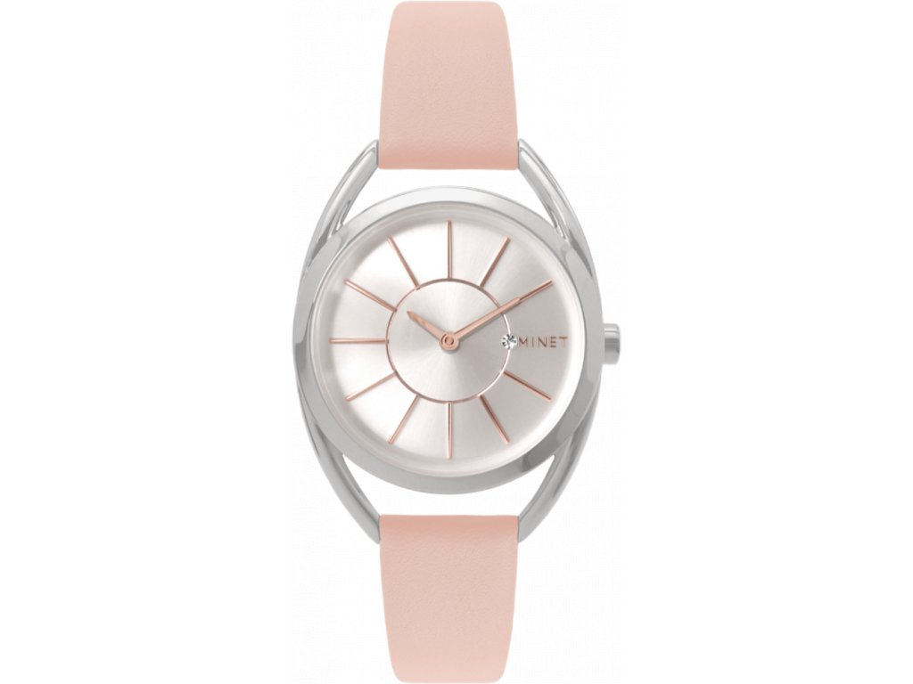 58878 3 pudrove ruzove damske hodinky minet icon pink blush
