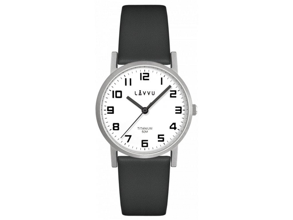 59064 1 stribrne damske titanove hodinky lavvu mandal