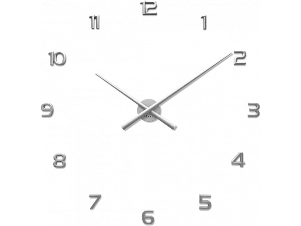 59118 2 stribrne nalepovaci hodiny lavvu 3d sticker silver numerals
