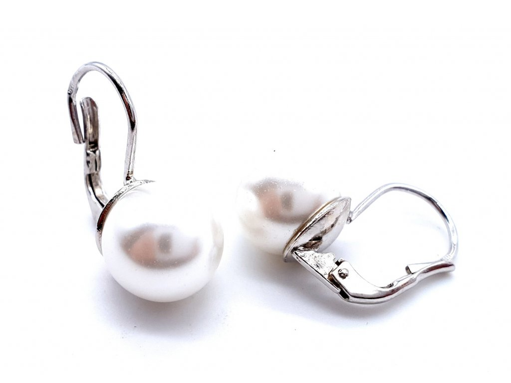 70059 stribrne nausnice s velkou dominantni perlou
