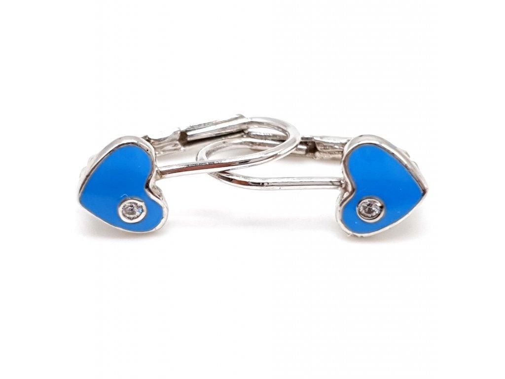 56433 stribrne nausnice ve tvaru modreho srdce