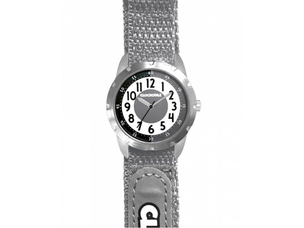 59442 2 sede reflexni detske hodinky na suchy zip clockodile reflex