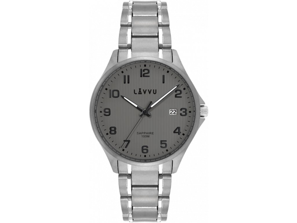 59466 1 titanove hodinky se safirovym sklem lavvu titanium lillehammer gray