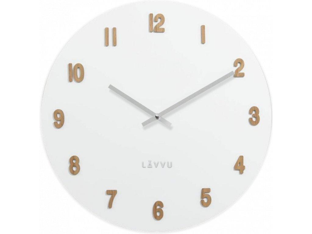 59547 6 velke bile drevene hodiny lavvu white