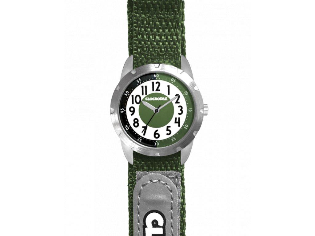 59595 2 zelene reflexni detske hodinky na suchy zip clockodile reflex
