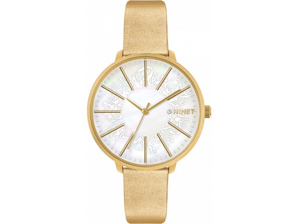 59625 2 zlate damske hodinky minet prague gold flower