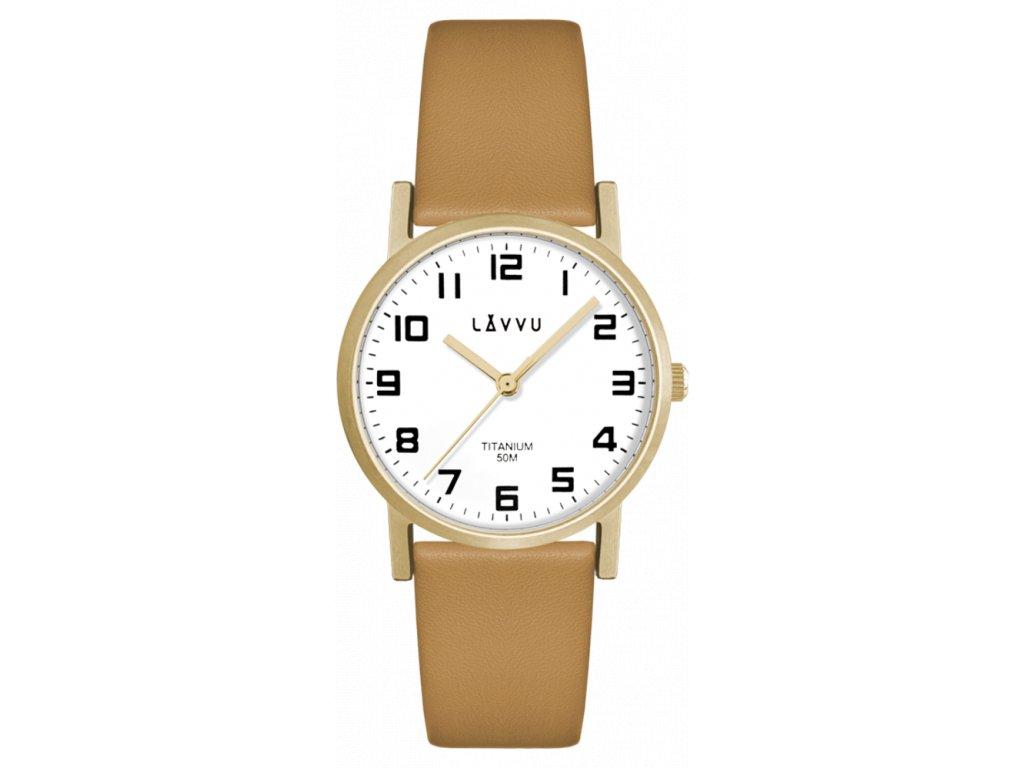 59652 1 zlate damske titanove hodinky lavvu mandal