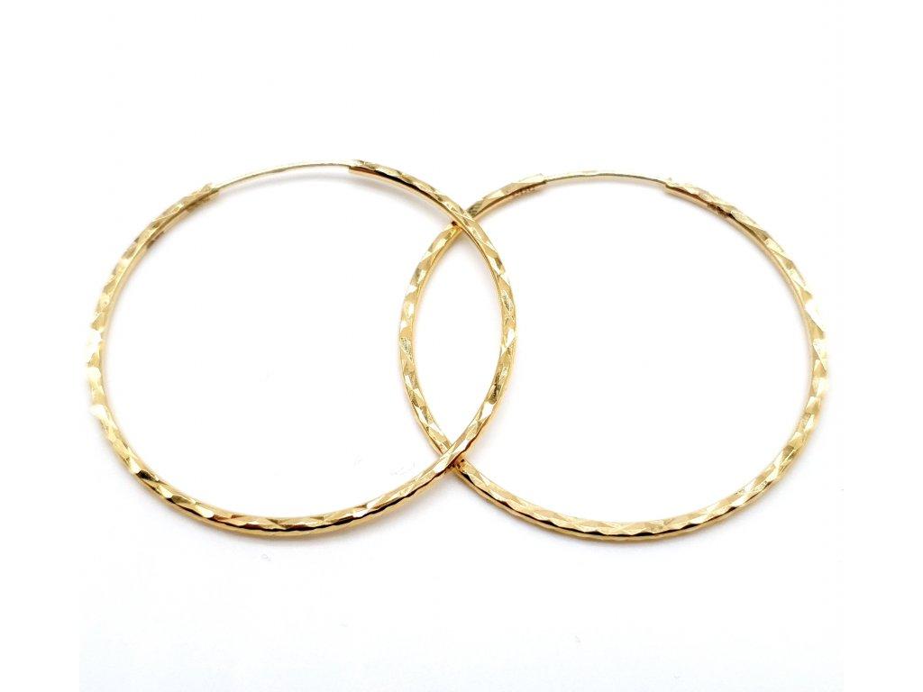 56340 zlate geometricke kruhove nausnice 4 0cm
