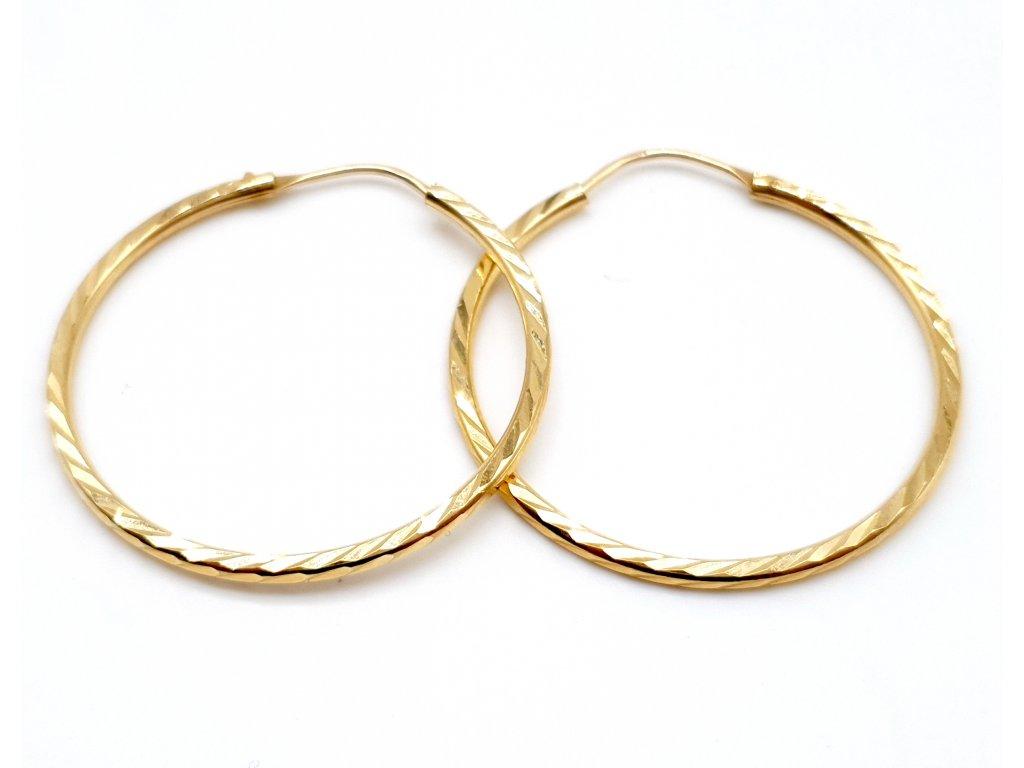 56343 zlate kruhove nausnice 3 5cm