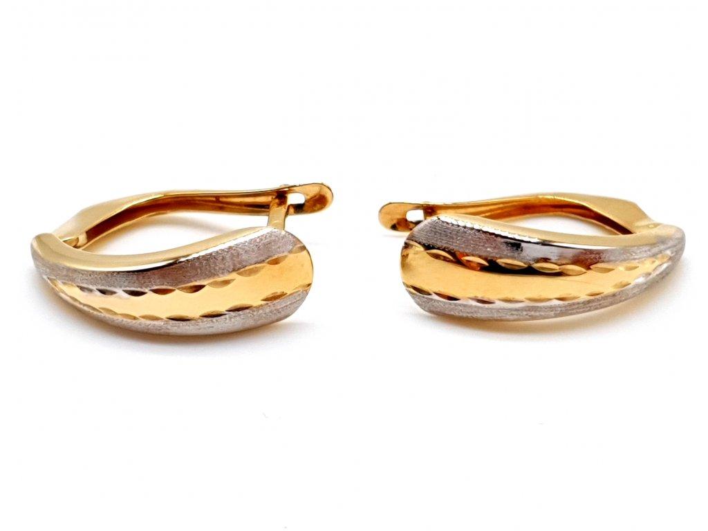 56316 zlate nausnice v provedeni bi color bile a zlute zlato