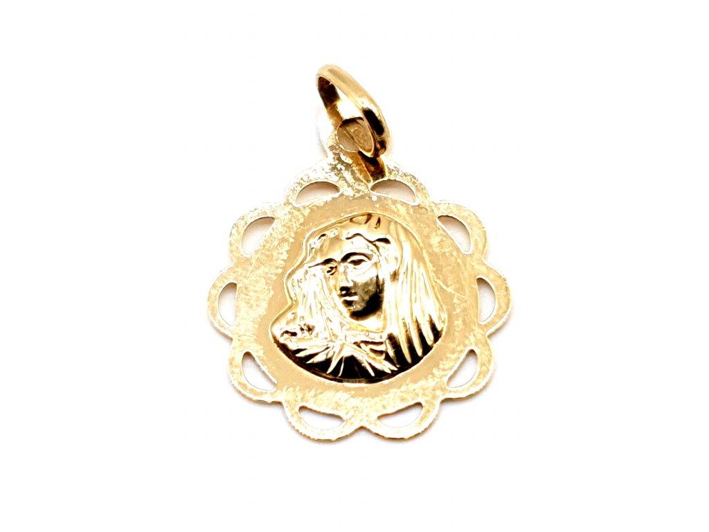 42933 zlaty privesek s pannou marii