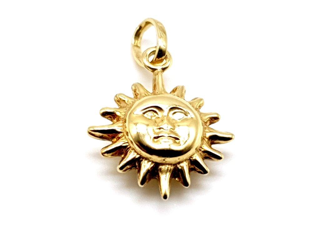 42969 zlaty privesek ve tvaru slunce