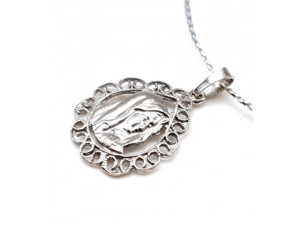 Stříbrný přívěsek Panna Marie