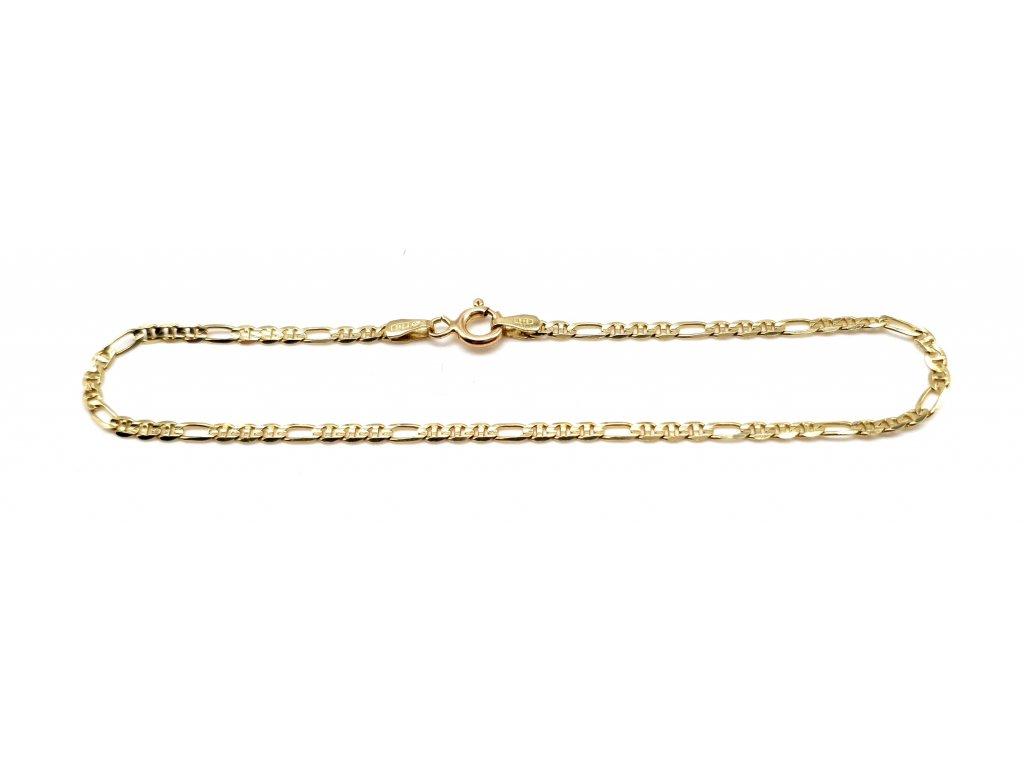 Dámský zlatý náramek v provedení Figaro