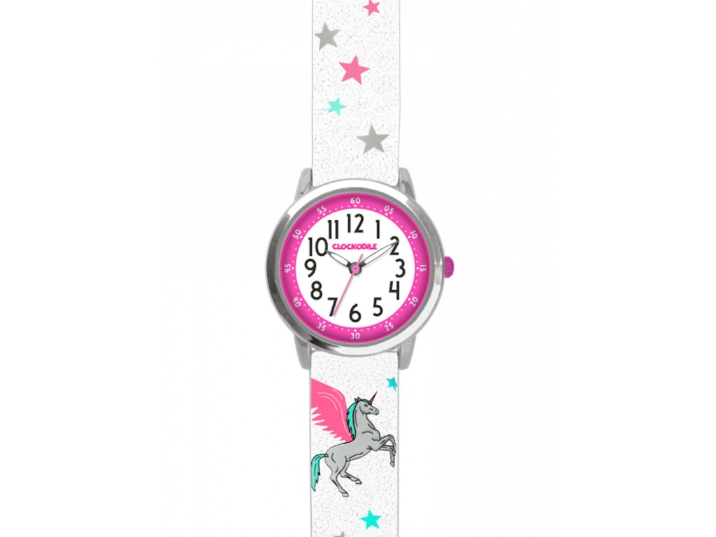 9639 bile trpytive divci detske hodinky s jednorozcem clockodile unicorn