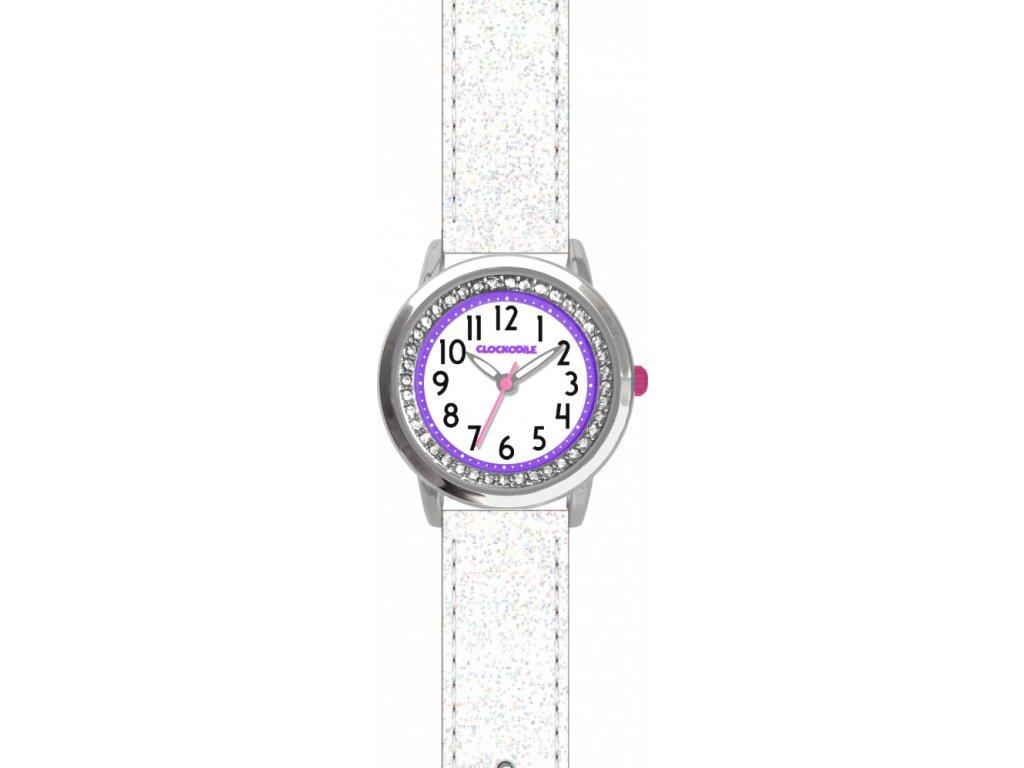 9657 bile trpytive divci detske hodinky se kaminky clockodile sparkle