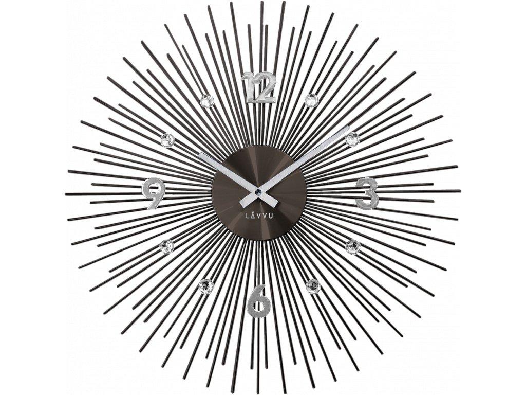 9912 cerne antracitove hodiny se stribrnymi detaily lavvu crystal lines