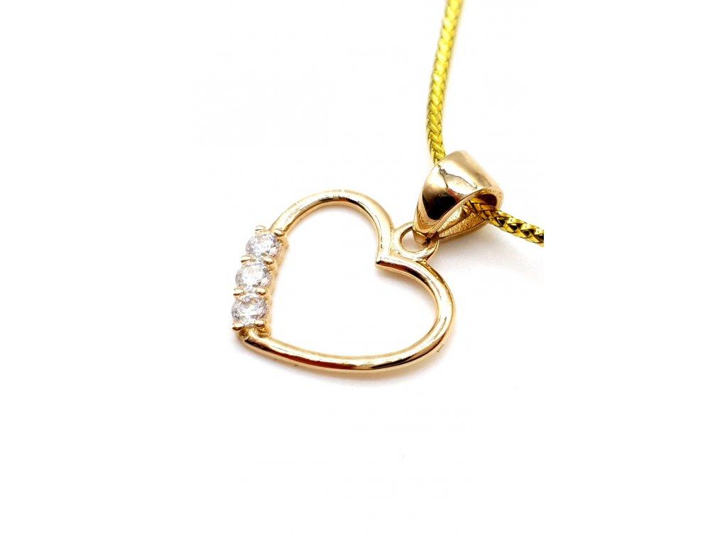 82347 drobne zlate srdce zdobene zirkony