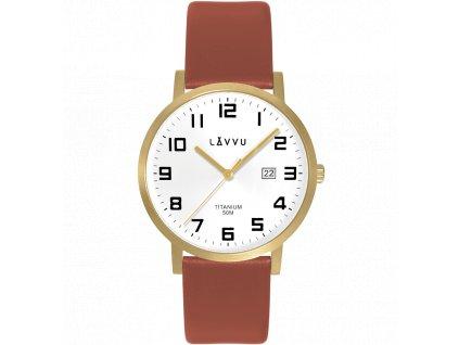 10044 extremne lehke titanove hodinky lavvu titanium lyngdal gold