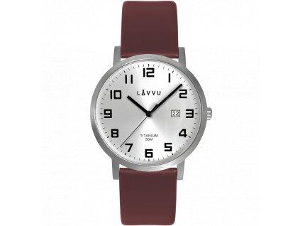 10173 extremne lehke titanove hodinky lavvu titanium lyngdal silver